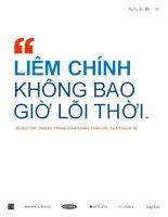 LIÊM CHÍNH KHÔNG BAO GIỜ LỖI THỜI - BỘ QUY TẮC ỨNG XỬ TRONG KINH DOANH TOÀN CẦU CỦA CHÚNG TA