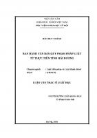 Ban hành văn bản quy phạm pháp luật từ thực tiễn tỉnh hải dương