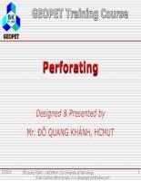 C4 Basic Perforating Methods
