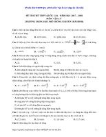 Đề thi thử THPTQG 2018 môn vật lý  (có đáp án chi tiết)