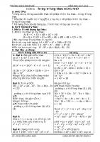 GIÁO ÁN ÔN TẬP HÈ TOÁN 8 LÊN  9 ( tải xuống sẽ hoàn chỉnh, không lỗi font)