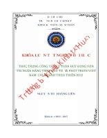 Thực trạng công tác kế toán huy động vốn tại ngân hàng TMCP đầu tư và phát triển việt nam – chi nhánh thừa thiên huế