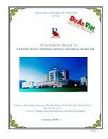 Dự án Bệnh viện Đa khoa Quốc tế Phương Đông tỉnh Bạc Liêu  Bản dịch tiếng anh  0918755356