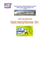 Môn Lập Trình WebBáo cáo Lập Trình Website