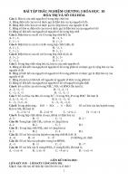 Bài tập trắc nghiệm hóa học 10 chương 3