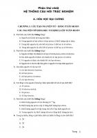 Trắc nghiệm hóa học ( đủ kiến thức 3 khối 10,11,12) ( có đáp án)