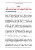 MỘT VÀI BIỆN PHÁP NÂNG CAO HIỆU QUẢ DẠY HỌC THEO MÔ HÌNH VNEN TẠI TRƯỜNG TIỂU HỌC VŨ HÒA 2