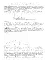 TUYỂN 100 câu bài tập TRẮC NGHIỆM Hóa Học từ các CAO THỦ