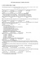 6 đề thi HSG khoa học tự nhiên lớp 8 (Lý Hóa Sinh) có đáp án