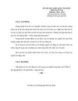 Đề thi HSG văn 8 có đáp án hay