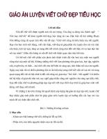 Giáo án luyện viết chữ đẹp cấp tốc 12 buổi