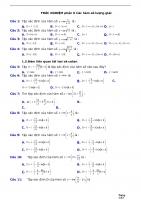 TRẮC NGHIỆM phần 6 các hàm số lượng giác