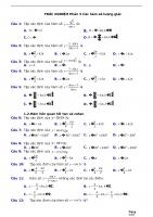 TRẮC NGHIỆM phần 5 các hàm số lượng giác