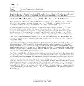 L3 mock sample exam CFA level III guideline answers 2009
