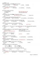 Tổng hợp Đề thi đại hoc môn Hóa học