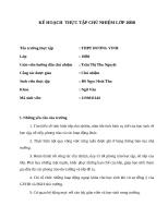KẾ HOẠCH  THỰC tập CHỦ NHIỆM lớp 10b8 THPT