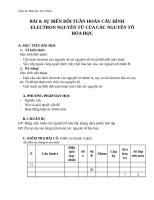 Giáo án Hóa học 10 bài 8: Sự biến đổi tuần hoàn cấu hình electron nguyên tử của các nguyên tố hóa học