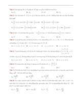 Đề thi thử THPT quốc gia môn toán có đáp án và hướng dẫn giải chi tiết
