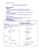 Giáo án Hóa học 11 bài 36: Luyện tập Hiđrocacbon thơm