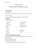 Giáo án Hóa học 11 bài 47: Thực hành tính chất của Anđehit và Axit cacboxylic