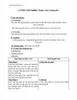 Giáo án Hóa học 11 bài 46: Luyện tập Anđehit  Xeton và Axit Cacboxylic