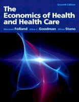 The economics of health and healthcare, 7th edition  sherman folland, allen goodman