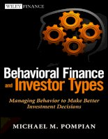 Behavioral finance and investor types by michael pompian dr soc