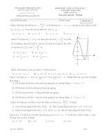 Đề khảo sát chất lượng toán 12 năm 2018 – 2019 trường THPT yên mỹ – hưng yên lần 1
