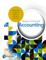 Tài liệu Issues in financial accounting 16th by henderson peirson