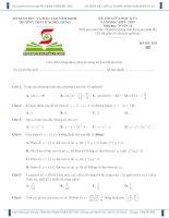 Đề thi giữa học kỳ i toán 12 năm 2018 – 2019 trường THPT b nghĩa hưng – nam định