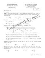 Đề thi thử THPTQG môn toán 2019 THPT Chuyên Bắc Giang
