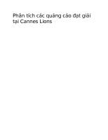 Phân tích các quảng cáo đạt giải tại cannes lions