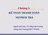 KẾ TOÁN THANH TOÁN NỢ PHẢI TRẢ (Theo Thông tư 1072017TTBTC ngày 10102017)