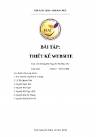 Báo cáo Thiết kế website du lịch