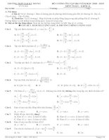 đề cương ôn tập HKI toán 11