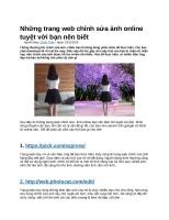 Những trang web chỉnh sửa ảnh online tuyệt vời bạn nên biết