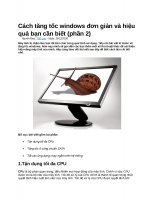 Cách tăng tốc windows đơn giản và hiệu quả bạn cần biết