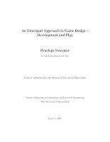 emergent gameplay pennysweetser thesis