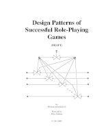 Design patterns of successful role playing games