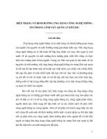 HIỆN TRẠNG và ĐỊNH HƯỚNG ỨNG DỤNG CÔNG NGHỆ THÔNG TIN TRONG LĨNH vực QUẢN lý đất ĐAI