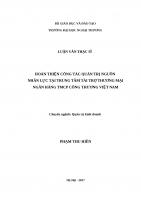 luận văn thạc sĩ HOÀN THIỆN CÔNG TÁC QUẢN TRỊ NGUỒN NHÂN LỰC TẠI TRUNG TÂM TÀI TRỢ THƯƠNG MẠI NGÂN HÀNG TMCP CÔNG THƯƠNG VIỆT NAM