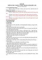 CHỦ ĐỀ: THỜI KỲ BẮC THUỘC VÀ ĐẤU TRANH GIÀNH ĐỘC LẬP (Lịch sử 6 Học kỳ II)
