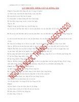 142 Câu Lý Thuyết Môn Vật Lý 12 - Chương 2 - Sóng Cơ Và Sóng Âm