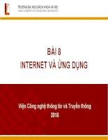 Bài 8 internet và ứng dụng