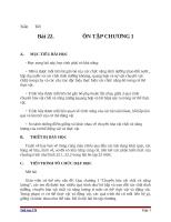 Giáo án Sinh học 11 bài 22: Ôn tập chương 1