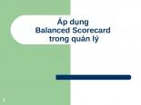 Áp dụng BSC balanced scorecard trong quản lý