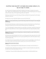 HƯỚNG GIẢI QUYẾT cơ bản KHI NHẬN HÀNG LCL bị hư hại ở CẢNG