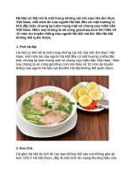 10 món ăn đặc sản truyền thống của người hà nội