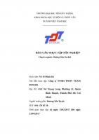 Báo cáo thực tập tại công ty sự kiện Team Power - Đại học Tôn Đức Thắng