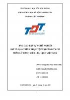 Báo cáo thực tập tại công ty du lịch Lữ hành Việt - Đại học Tôn Đức Thắng